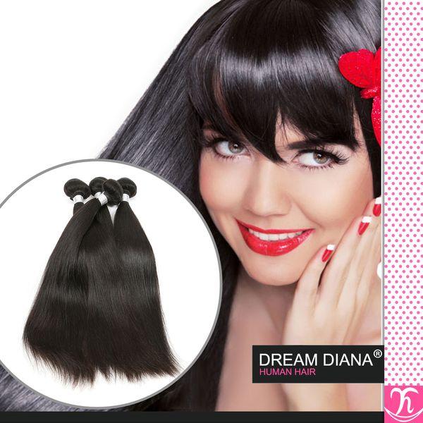 Ali Queen Hair 6a Unprocessed Virgin Virgin Hair Kinky Straight 3 piezas en venta Grace Productos para el cabello Brasillian Straight Hair Envío rápido