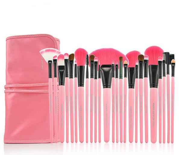 Professional 24 pcs Makeup Brushes Set Charming Pink Cosmetic Eyeshadow Brushes 50sets DHL Free Shipping