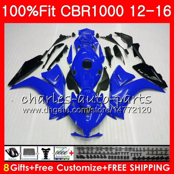 Injecção Para HONDA CBR1000 RR CBR TOP preto azul 1000 RR 12 16 88NO90 CBR 1000RR 12 13 14 15 16 CBR1000RR 2012 2013 2014 2015 2016 Carenagens