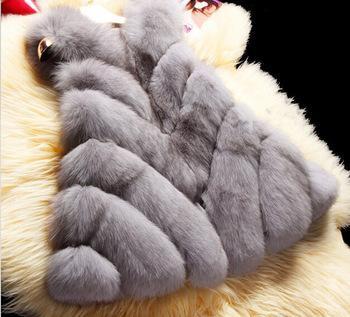 2016 nuovo 2015 cappotto invernale donne importare intero buccia di pelliccia di volpe gilet di pelliccia di cappa di alta qualità per il tempo libero shitsuke cappotto donne formato: S-XXXL