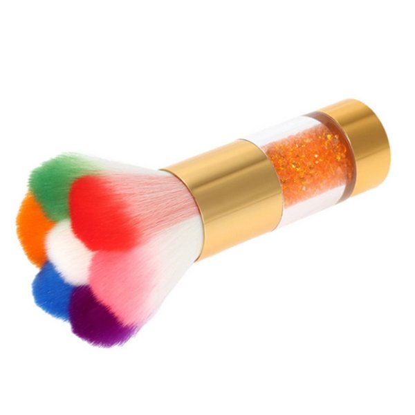 Wholesale- Colorful Nail Dust Brushes Acrylic&UV Nail Gel Powder Nail Art Dust Remover Brush Cleaner Rhinestones Makeup Foundation Tool
