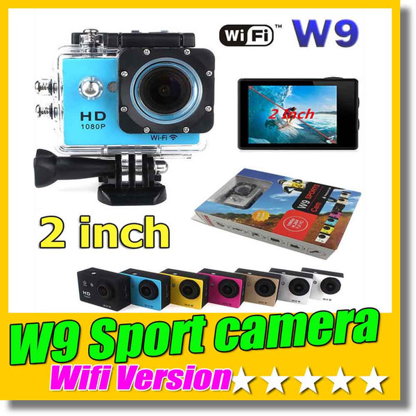 best selling SJ4000 Style Wifi Version W9 2 Inch Screen HD Action Camera Mini DV 30M Waterproof Extreme Sport Camera HDMI 1080P