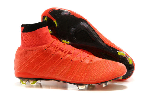 Super Light Cristiano Ronaldo CR7 High Cut Soccer Football Boots Shoes  Cleats Real Carbon Fiber Bottom fb8ef3233f