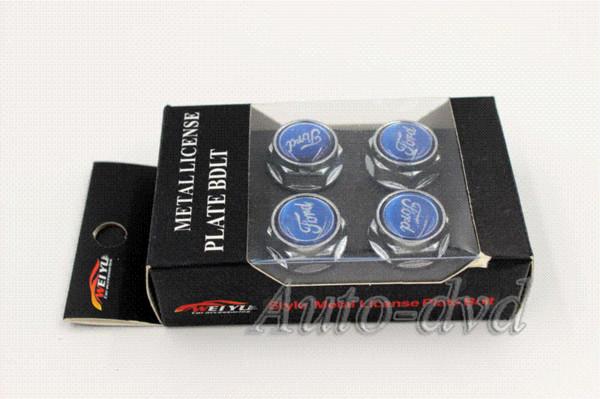 4 stücke Chrome Kennzeichenschraube Rahmen Schraubkappen Abdeckschraube Auto Muttern Für Ford Focus Mondeo M47909