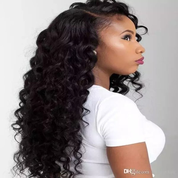 Deep Curly Full Lace Wigs Baby Hair Brazilian Deep Curly Lace Frontal Human Hair Wigs Brazilian Deep Wave Virgin Hair