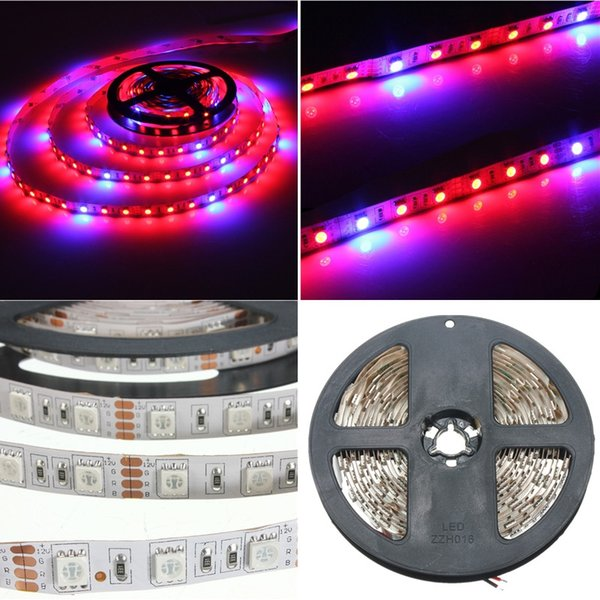5050SMD LED Flexible Strip Grow Tape Light 4 Rouge 1 Bleu Aquarium À Effet de Serre Usine Hydroponique De Plus en Plus Lampe 60led / m 2M 4M 5M