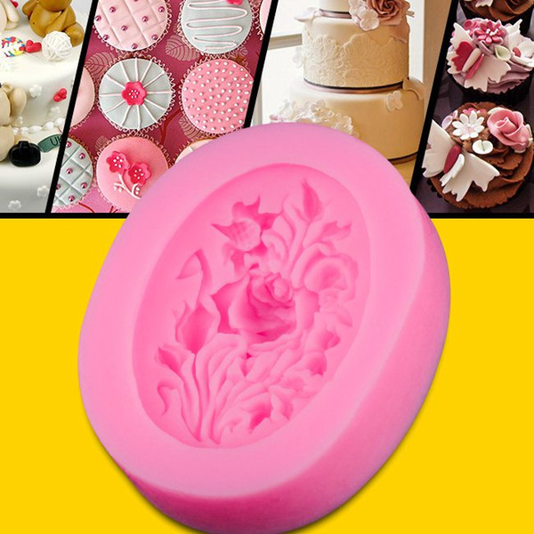 Delicate 3D Peony Flower Silicone Fondant Cake Molds Soap Chocolate Mould Hot Selling