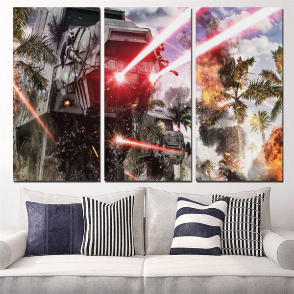 Laser Waffe,3 Pieces Home Decor HD Printed Modern Art Painting on Canvas (Unframed/Framed)
