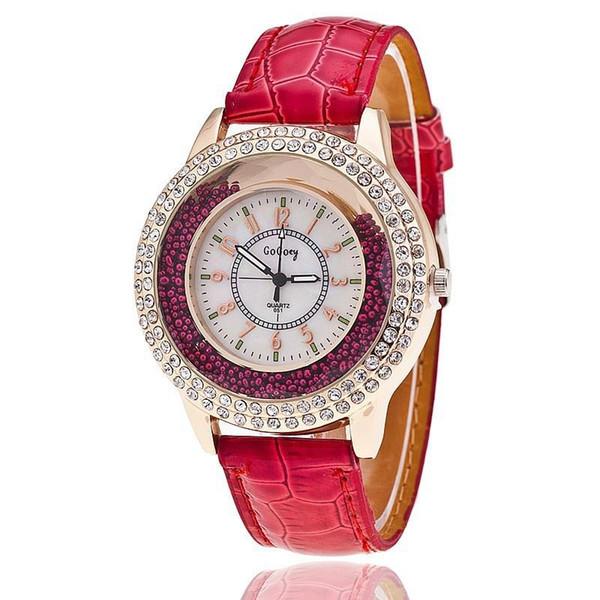 Nuove donne di orologi al quarzo Gogoey Orologi in pelle di lusso di marca Ladies Popular Casual Fashion Orologio in oro relógios femininos