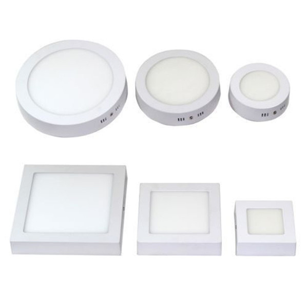 Dimmable 9W 15W 21W 30W Round Square Surface Mounted Led Panel Light LED Downlight lighting Led ceiling down lamps 110-240V + Drivers