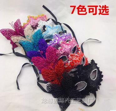 2016 Masquerade Ball Masks Mardi gras sexy masks for beauty women with side Artificial flower Halloween Christmas wedding party decorations