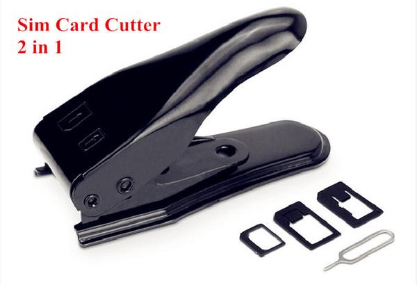 Dual Micro Sim Cutter for iPhone 6 Plus 5S 5C 5 4s 4 with Nano Micro Standard SIM Card Adapter Sim Card Tray Holder Simon2010 US5