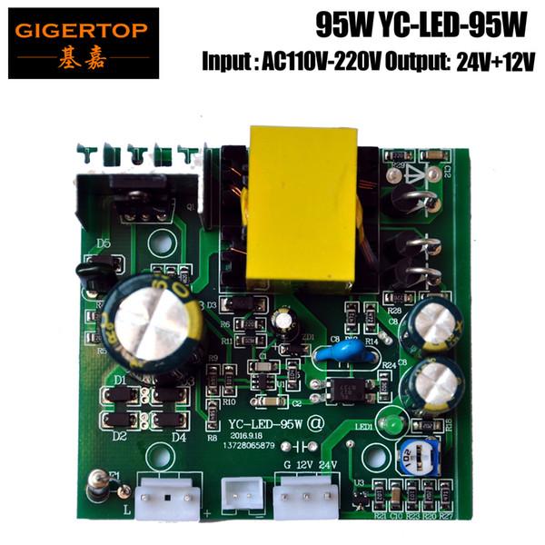 TIPTOP YC-LED-95W Led Moving Head Power Alimentazione 7x10W 24 V + 12 V uscita scheda vuota YC-100-12-24 trasformatore di tensione dalla Cina