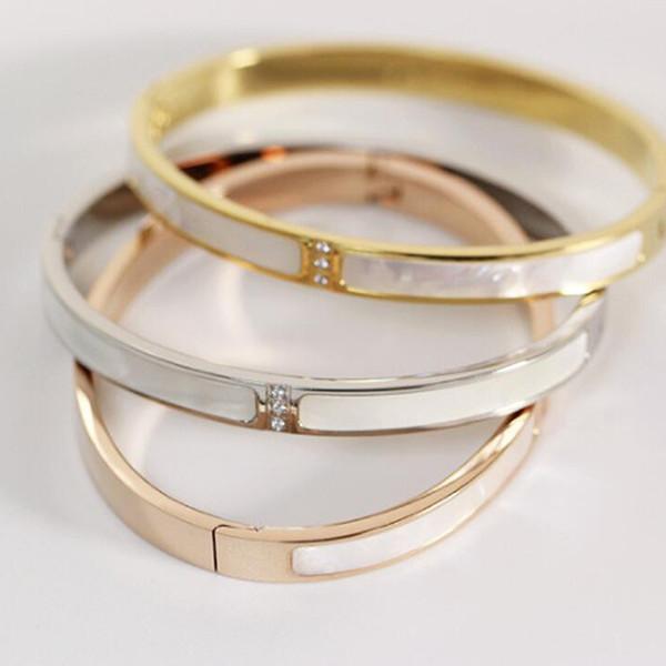 Female shell bracelet South Korea titanium steel gold-plated roses Japan and South Korea trade jewelry bracelet wholesale