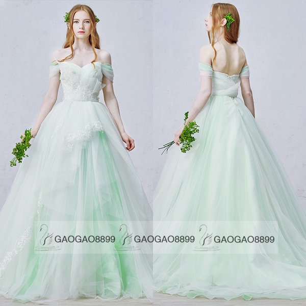 Discount New Arrival Light Green Mint Sage Lace Tulle Country ...