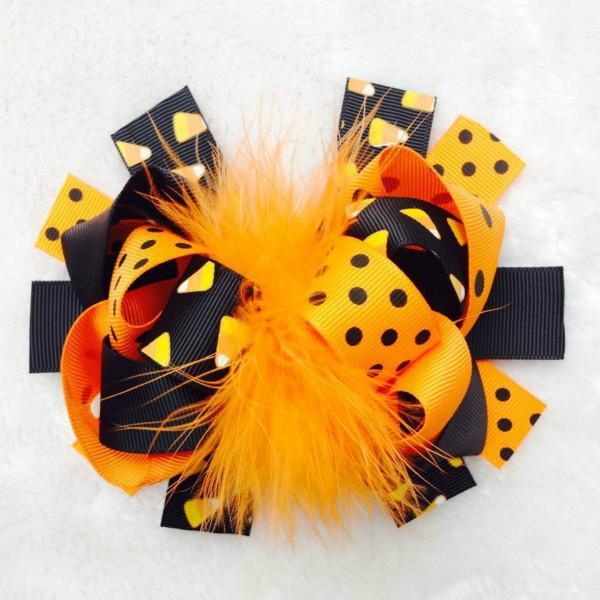 2017 Halloween Hair Bows Clips Pins For Women Barrette Bow Clip Hairpins Grosgrain Ribbon Headdress Hairbows Tiaras Hair Accessories