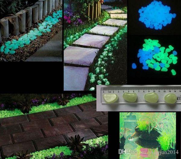 Solar Glow Stone Artificial Lightweight Luminous Pebble Stone For Home Fish Tank Decor Garden Corridor Swimming Pool Decorations Fast