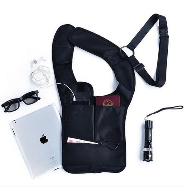 2016 Hot Anti-Theft Hidden Underarm Shoulder Bag Holster Black Nylon - Agent Bond 007 Bag Multifunction Redalex Inspector Shoulder Bag 18484