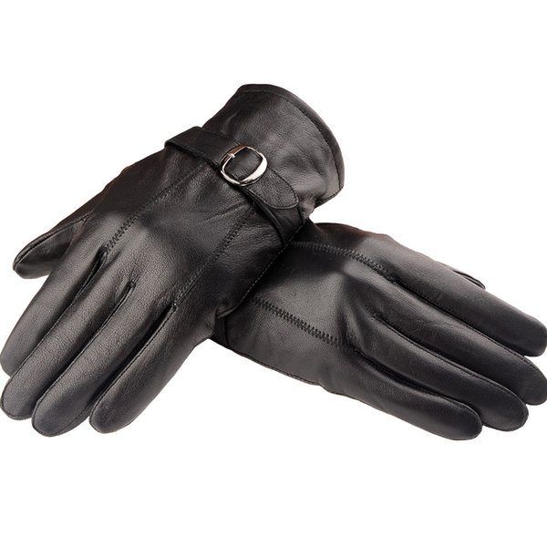 Wholesale-Fashion Man Leather Winter Gloves Sheepskin Leather Gloves