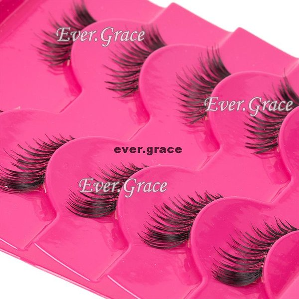 Wholesale- 5 Pairs Handmade Extension Fashion Half Eye Lashes Mini Corner Eyelashes Natural
