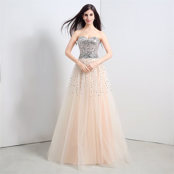 Vintage Spakely Evening Gowns In Stock Cheap Prom Dresses Under 100