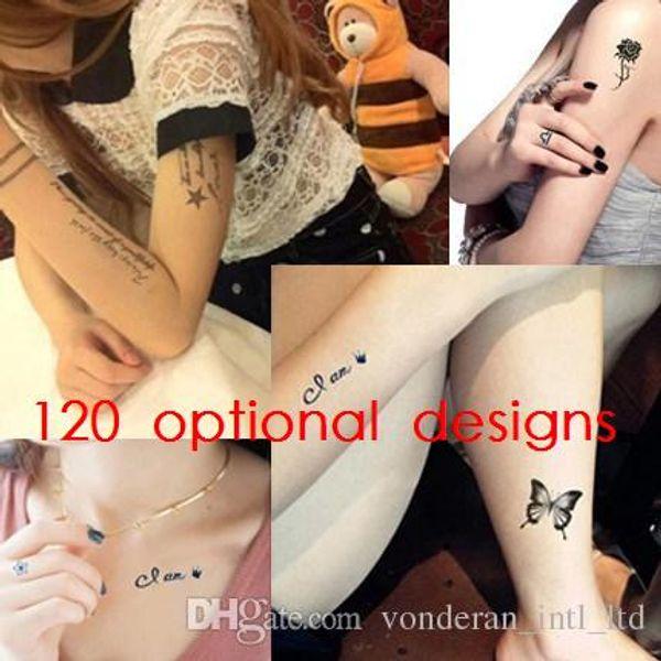 Wasserdicht Tattoo Aufkleber Temporäre Tattoos wasserdicht Tattoo Aufkleber Tattoo Aufkleber sexy tätowierte männliche und weibliche Modelle