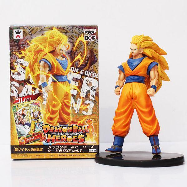 "Anime Dragon Ball Z Heroes Super Saiyan 3 Son Goku PVC Figure Collectible Toy 7"" 18CM"