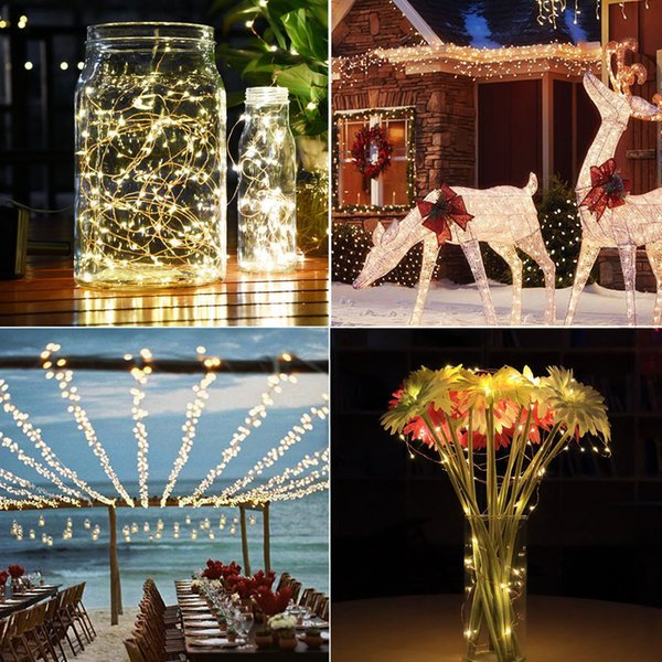 best selling 20 meters 200 led light copper wire solar light string string lights waterproof Christmas Day Lantern copper lights wholesale