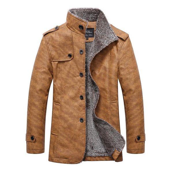 Großhandel Kostenloser Jacke Casual Schafe Warme Brand Luxus HeissWinter Motorrad Herren Pelz Versand 1 2016 Lederjacke Pelzmantel Leder xeWrdCoB