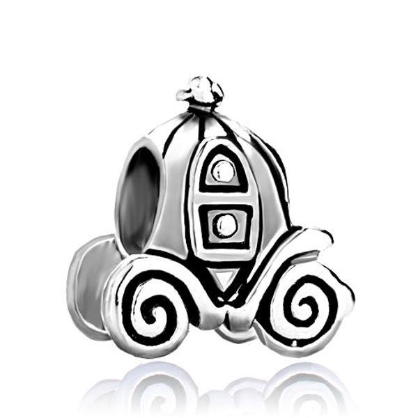 Fashion women jewelry metal Jackolantern Halloween Cinderella Pumpkin Carriage European spacer bead charm fits Pandora bracelet