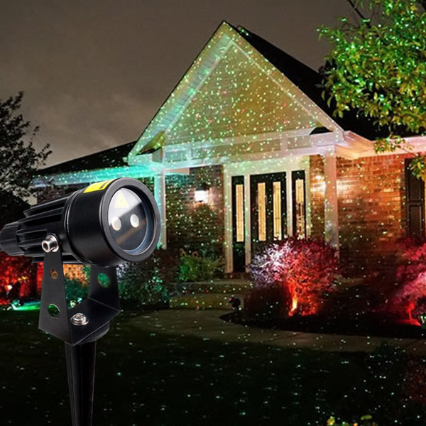 mini christmas redgreen garden laser light outdoor waterproof lawn lamp skyfully stars firefly lights for holiday party brithday decoration
