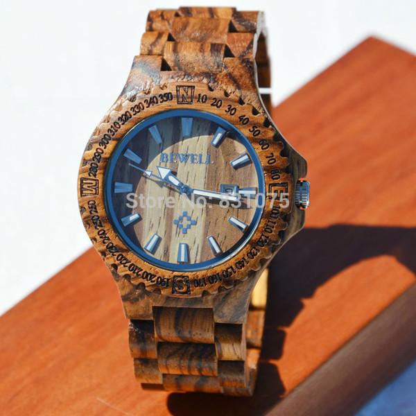 Atacado-49MM Super Men relógio de pulso Vogue Men 2015 Distinguished relógio de pulso de madeira Men Big Watch