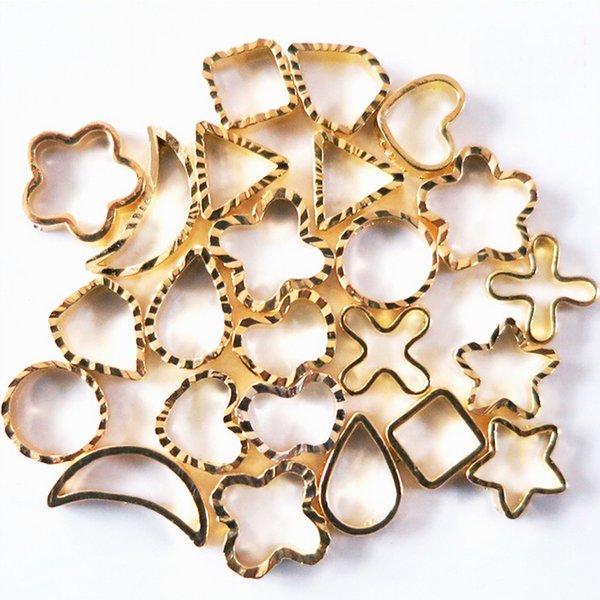 2 WheelsGolden Metal 3d Hollow Pattern Wheel For Design Nail Art ...