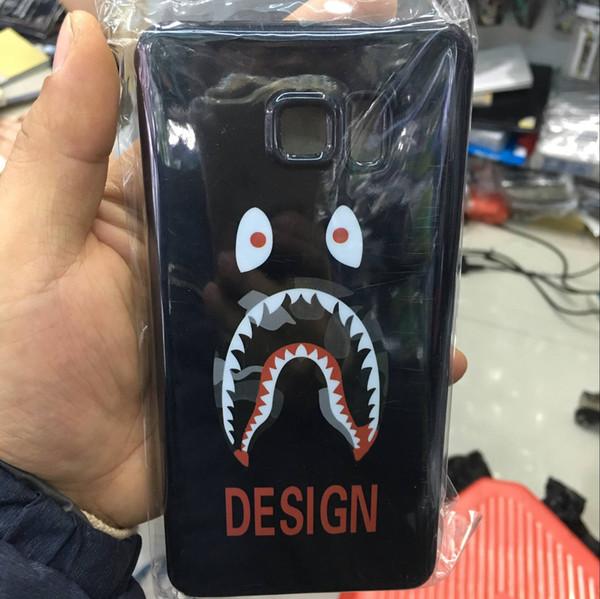 50pcs/lot For Sumsung galaxy s6 edge plus A7 A7000 G530 G360 J1 ACE J2 cartoon shark soft TPU case black silicone cases