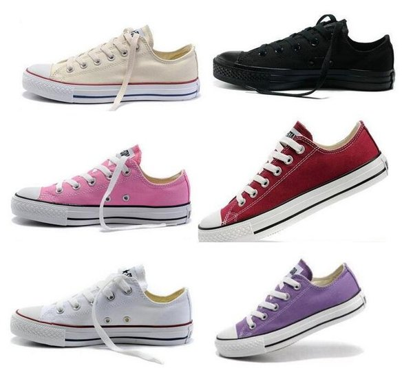 New star big Size 35-45 High top Scarpe casual Low top Style stelle sportive chuck Scarpe classiche Sneakers in tela Scarpe uomo / donna Canvas