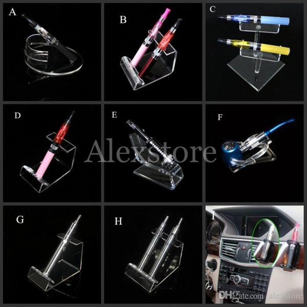 Acrylic e cig display clear stand shelf holder vape car rack for vapor ego battery e pipe ecig mech mod mechanical e cigarette vaporizer pen