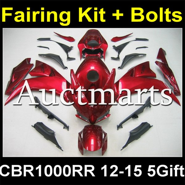 Full Body Plastic Fairing Kit + Bolt Kit For Honda Cbr1000rr Cbr1000 Cbr  1000 1000rr 2012 2013 2014 2015 12 13 14 15 Body Fairing Set H2 633