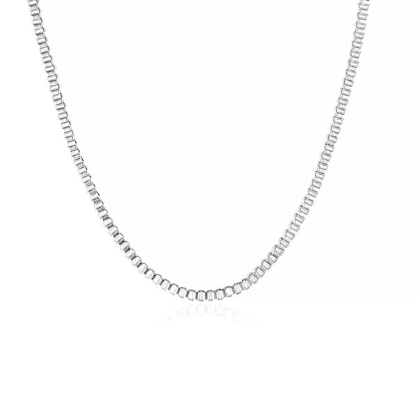 925 Sterling Silver 2mm Box Chain Necklace 16inch-24inch Fit All Pendant Necklace 16-24inch Free Shipping Mix Size