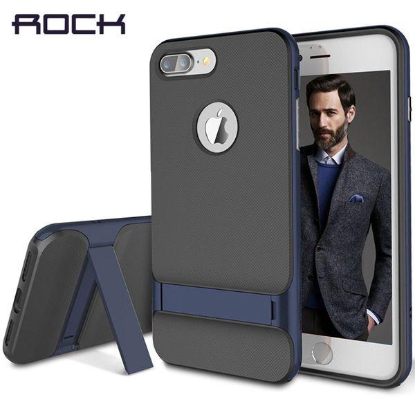 Rock Kickstand Case для Iphone 6 6s антидетонационные Royce телефон случаях жесткий Pc + мягкая Tpu телефон стенд чехол для Iphone 6s 4 .7-дюймовый