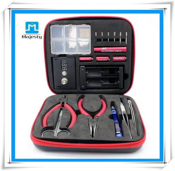 Più economico RDA pre coil tool Magic stick CW box master vape kit jig RBA kit fai da te koiler wick e sigaretta elettronica toolbox gratis