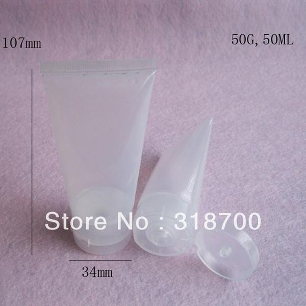 Free Shipping,50pcs 50G Shampoo Bottle, PE Mildy Wash Bottle,Butter Plastic Bottle