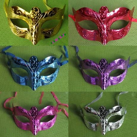new fashion mask party masquerade colorful plated handmake mask Venetian Masquerade ball mask free shipping 20pcs/lot MJ006