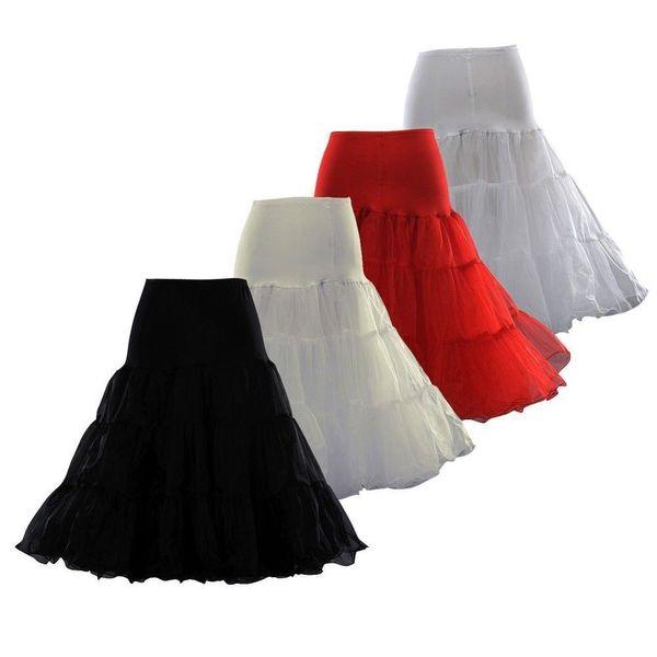 "In Stock High Quality 26"" 50s Retro Underskirt Swing Vintage Petticoat for short Dress Fancy Net Skirt Rockabilly Tutu Free Shipping"
