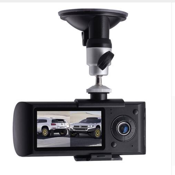"Dual Lens Car DVR Camera R300 Dashcam Video Digital Recorder with GPS 2.7"" TFT LCD X3000 Camcorder Cycle Recording DVR"