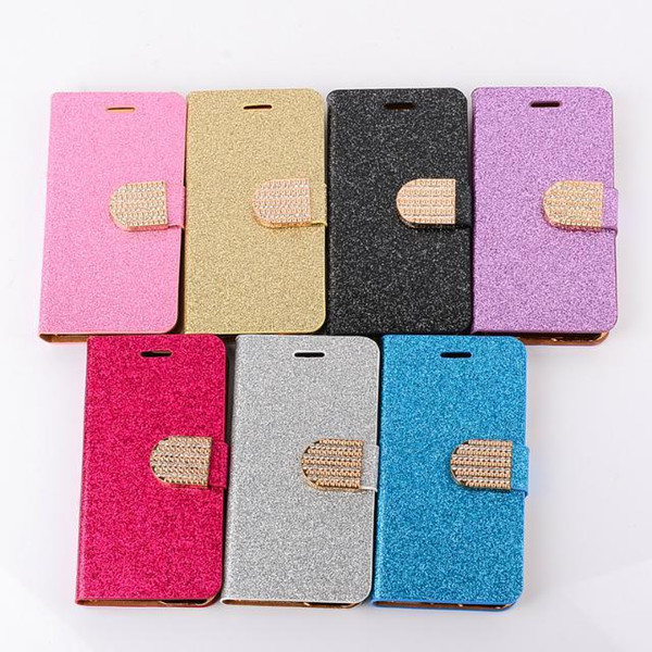Free DHL whole sale diamante Wallet PU Flip Leather Case Card Slot for Samsung iphone