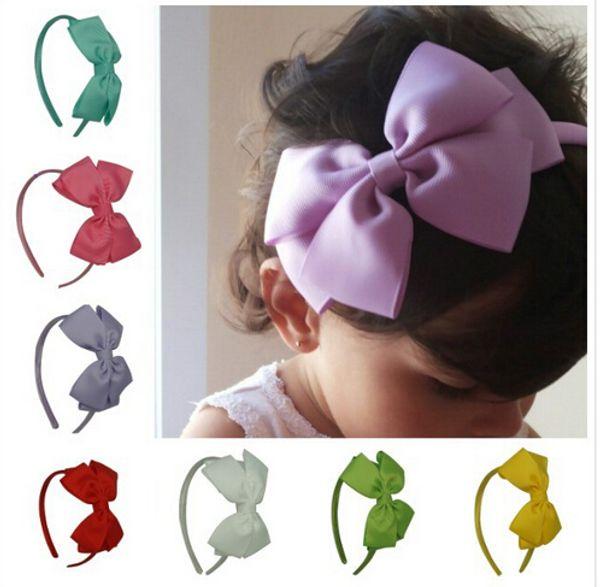 Haute Qualité Gros-Grain Ruban Hairband Bébé Fille Mignon Bandeaux À La Main Bandeau Pour Bébé Filles Cheveux Accessoires 20 pcs