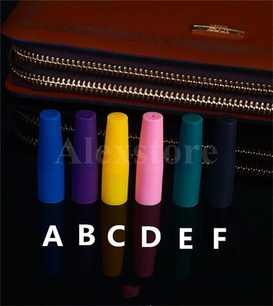 Silicone Mouthpiece Cover Drip Tip Disposable Colorful Silicon testing caps rubber long Test Tips Tester Cap 510 ego drip tips for ecig DHL