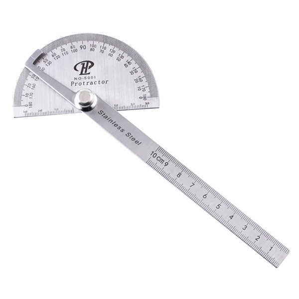 top popular Stainless Steel 180 degree Protractor Angle Finder Arm Rotary Measuring Ruler - Woodworking Measuring Tools Free Shipping 2021