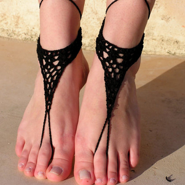 1 Pair OR 2 PCS Barefoot Sandals, Nude shoes, Foot jewelry, Wedding, Sexy, Yoga, Anklet , Bellydance, Steampunk, Beach Pool