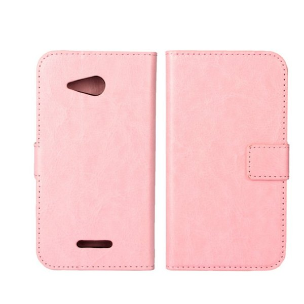 Fashion 9 Colors Crazy Horse Skin PU Wallet Cover Case for Sony Xperia E4g E2003 E2006 E2053 with ID Card Holder Case